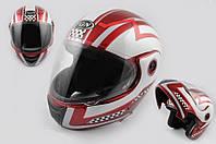 Шлем FGN трансформер RACE бело красный