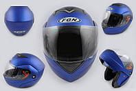 Шлем FGN трансформер J синий матовый