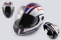Шлем FGN трансформер RACE бело синий
