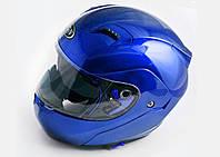 Шлем FGN трансформер 688 с двойным визором синий