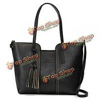 Женщины ретро кисточкой сумки дамы случайные сумки плеча мешки Crossbody