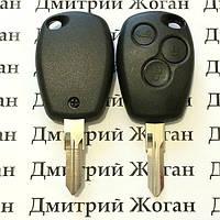 Корпус автоключа для Nissan (Ниссан) 3 кнопки, лезвие VAC102