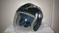 Шлем TVR полулицевик черный