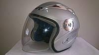 Шлем TVR полулицевик серебристый