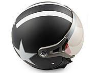 Шлем BEON полулицевик черный матовый
