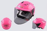 Шлем LS-2 OF100 полулицевик розовый