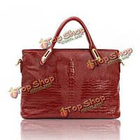 Женщины 3d картины крокодила сумки дамы элегантные сумки плеча Crossbody сумки