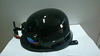 Шлем-каска с очками черная глянец