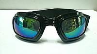 Мото очки черные затемненные