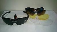 Мото вело очки со сменными стеклами, линзами 5 шт.