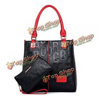 Женщины геометрии сумки дамы элегантные сумки клатчи Crossbody сумки кошельки 2 шт
