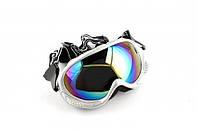 Очки маска для мотокросса Vega MJ-13 стекло хамелеон белые