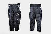 Мото штаны Daqinese черные текстиль с защитой (наколенники)