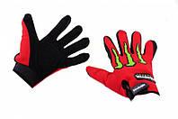 Мото перчатки Monster Energy красные