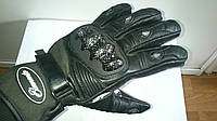Мото перчатки Elemento черные кожаные