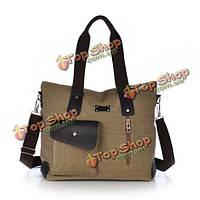 Женщины холст сумки дамы случайные сумки плеча мульти- карманы Кроссбоди сумка