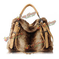 Женщины сумочку, элегантный плечо носить сумки фур заклепки, crossbody сумку