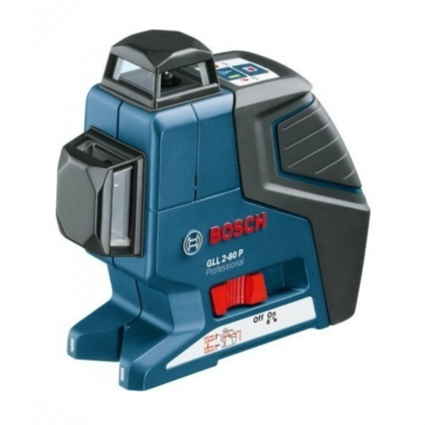 Линейный лазерный нивелир Bosch GLL 2-80 P + вкладка под L-Boxx, 0601063204