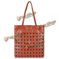 Женщин заклепки PU сумка дамы сумки tote сумка ведро мешок мешки