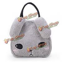 Женщины 3d кролика сумки девушки милые мешки плеча животных Crossbody сумки