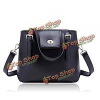 Женщин ретро PU кожаный переносная сумка плеча мешок ведро