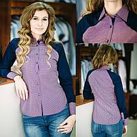 Рубашка женская в клетку, длинный рукав ,приталенная. Разм. XS, S, M, XL, XXL . Dav