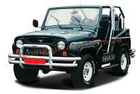 Защита переднего бампера кенгурятник крашенный (c защитой картера и защитой фар) D60 на  УАЗ 469
