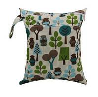 Удобные сумочки для сухих и мокрых вещей c двумя отделениями лесные жители