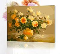 Картина по цифрам 40 х 50  Сладкий аромат цветов