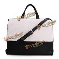 Новая Женская мода сращивание цвет блока сумка креста тела сумка