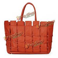 Модные женщины сумка тканые PU кожаная сумка сумки плеча сумку
