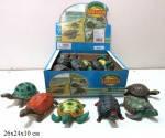 Игровая фигурка Силиконовая черепаха 6 видов 12 см,  A009