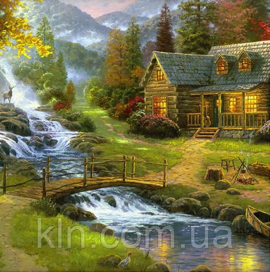 Набор алмазной вышивки Дом у реки KLN 30 х 30 см (арт. FS228)
