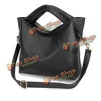 Женщины Пу кожаная сумка сумка на плечо большая емкость мешка Кроссбоди