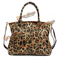 100% женщин Geniune кожаные сумки дамы элегантные сумки леопарда плеча Crossbody сумки
