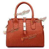 Женщины старинные крокодил замок сумки дамы элегантные сумки плеча Crossbody сумки