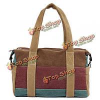 Женщины контраст цвета холст мешки вскользь мешки бостон Crossbody сумки