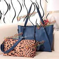 Новая мода элегантный женщин сумки дамы леопарда плетки плече сумка