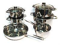 Набор посуды, кастрюли, сковорода, сотейник нержавейка