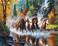 Набор алмазной вышивки Свободные лошади KLN 30 х 40 см (арт. FS229)