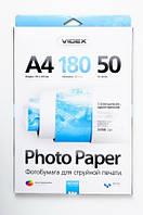 Фотобумага Videx глянцевая А4 180г/п, 50л