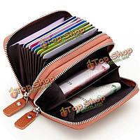 Женщины мужчины Geniune кожа 10 держатель карты портативные сумки для монет короткий бумажник, фото 1