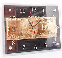 Часы настенные картина 20Х25 доллар