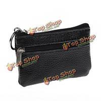 Мужчины женщины прочное кожаное портмоне кошелек мини мешок ключа