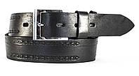 Оригинальный кожаный мужской ремень под джинсы MASKO с тиснением