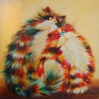 """Алмазная вышивка Семья рыжих котов KLN 30 х 30 см (арт. FS221) DIY  серия """"Котомир"""""""