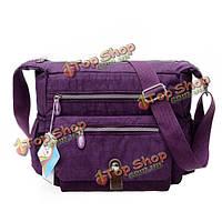 Женщины многослойные молнии карманы сумки дамы нейлон легкие мешки плеча непромокаемые мешки Crossbody
