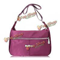 Женщины нейлон легкие Crossbody сумки дамы напольные водоустойчивые мешки плеча посыльного сумки