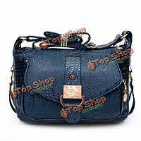 Женщины крокодил сумки дамы элегантные кожаные мешки плеча Crossbody сумки сумки посыльного