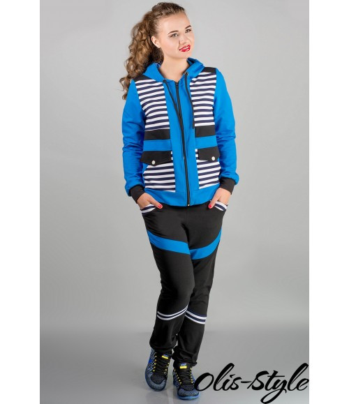 Модный спортивный костюм Анжелика (бирюза полоска)